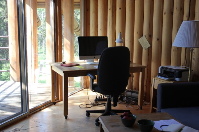 Inside the Cardinal Studio, one of the Leighton Studios at Banff Centre for the Arts.